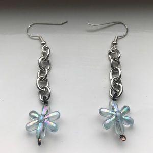 Trendy star chain earrings